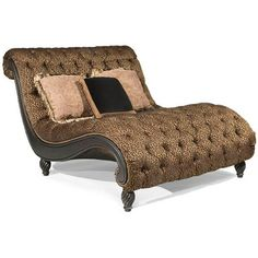 Chaise lounges on pinterest chaise lounges chaise sofa for Animal print chaise