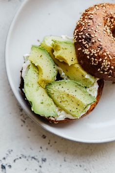 Avocado Cream Cheese Bagel Toast
