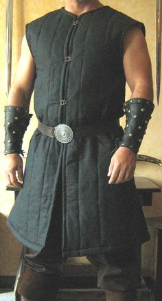 Medieval Celtic Viking Armor Padded Gambeson by MorganasCollection. $99.99, via Etsy.