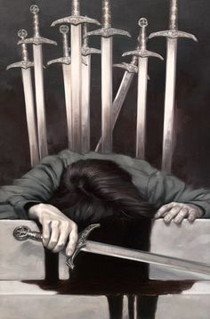 Ten of Swords: Yes, it is that bad. Misfortune, ruin, defeat, loss, failure, desolation, beyond tears. Alternatively, troubles which are over.