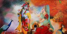 Size : 39x19 In Medium : Acrylic Color Surface : Canvas Krishna Painting, Celebrity Drawings, Krishna Radha, Acrylic Colors, Figure Painting, Surface, Paintings, Medium, Canvas