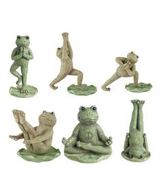 I just think these are funny. Yoga Frog Figurine Set