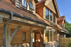 A stunning combination of oak frame and timber cladding.
