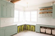 Bold & Blue Laundry Room - Transitional - Laundry Room - salt lake city - by Ashley Winn Design