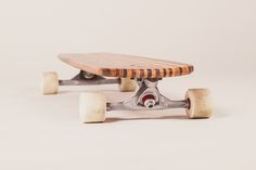 Longboard out of carefully selected reclaimed wood. For downhill action or beach cruising. Wood Toys, Making Out, Skateboard, Shapes, Traditional, Handmade, Shopping, Action, Design