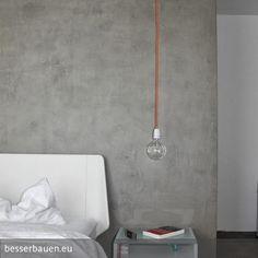 Für Ein Puristisch Designtes Schlafzimmer Beschichteten Wir Mit Unserer  Eigenen BesserBauen Beton Cire Masse Einen Wandspiegel