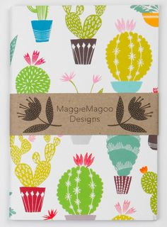 This contemporary cactus notebook was designed by MaggieMagoo Designs. The…