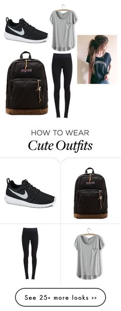 """Cute comfy school outfit"" by maschumacher on Polyvore"