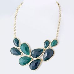 Cheap & Chic Petals Necklace Teal - $28...Love the color of this necklace!