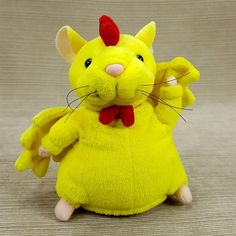 "Gemmy Hamster Musical Animated Dancing Moving Chicken Dance Song 6"" Plush Yellow"