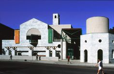 Architect - James Stirling & Michael Wilford.  Project - the Schwartz Center for the Performing Arts.  Location-Cornell University in Ithaca, NY, USA.  Date- 1988