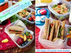 Healthy lunch box lunches