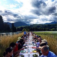 The Beautiful Table at Hama Hama Oyster Farm @hamahamaoysters #OITF #StunningSkies #washington  @huxleywallace PC @eclkdomestic