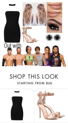"""out with Friends"" by alexisotey14 ❤ liked on Polyvore featuring Boohoo and Gianvito Rossi"