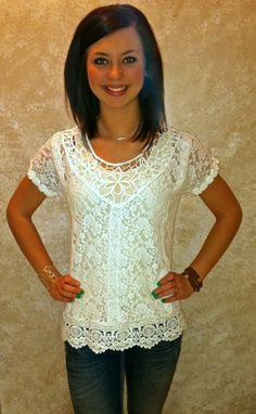 The Willow Tree - Miss Me Lace Top, $64.95 (http://willow-tree.mybigcommerce.com/miss-me-lace-top/)