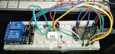 Picture of ESP8266 NodeMCU WiFi Garage Door Opener Relay Wiring