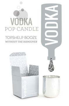 The NEW way to partake in spirits, scented intoxicants! Our new Vodka Pop Candle