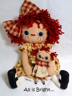 free christmas primitive patterns   All is Bright: Lulu and Annie