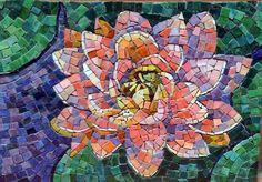 Jacki Gran Lotus Flower Mosaic | Stained Glass & Mosaics | Pinterest