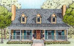 Elevation of Country   House Plan 41021