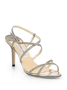 Jimmy Choo Elaine Strappy Glitter Sandals...Savannah wore this on her first day of school!
