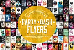100 Party & Bash Flyer Bundle by Psd Templates on Event Flyer Templates, Flyer Design Templates, Print Templates, Psd Templates, Business Brochure, Business Card Logo, Business Flyer, Photography Flyer, Image Font