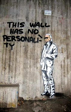 This wall has no personality!