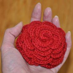 Grietjekarwietje: Haakpatroon grote roos / Crochet pattern Large Ros...