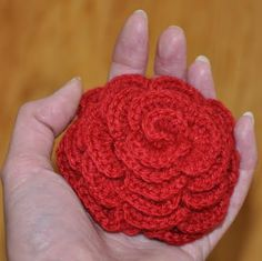 Grietjekarwietje: Crochet Pattern large rose / Crochet pattern Large Rose