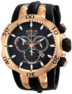 Men's Wrist Watches - Invicta Mens 10830 Venom Analog Display Swiss Quartz Black Watch >>> Continue to the product at the image link. (This is an Amazon affiliate link)