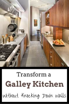 Cosy Kitchen Inspirations from New York Galley Kitchen Design, Small Galley Kitchens, Galley Kitchen Remodel, Narrow Kitchen, Grey Kitchens, Home Kitchens, Kitchen Remodeling, Kitchen Designs, Kitchen Small