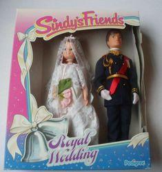 Vintage Pedigree Sindy Friends Mark and Marie Royal Wedding Doll Set for sale