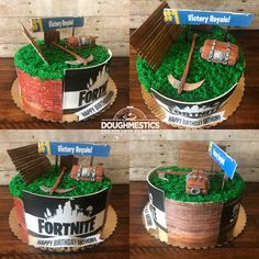 Fortnite Cake by Sweet Doughmestics
