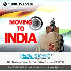#MovingtoIndia? Sky2c Freight System is reliable #movingcompany that provides hassle-free #move and takes care of your requirement at affordable rates. Get a free #moving quote today!  #movers #movingservices