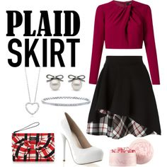Plaid chic by ninastylez on Polyvore featuring polyvore fashion style Andrea Marques Alexander McQueen Kate Spade