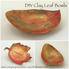 An Easy Clay Craft for Kids: Autumn Leaf Bowls! - One Project Closer