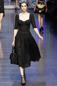 Dolce & Gabbana RTW Spring 2012...add some color, maybe a hat, and this is me dressed up. Okay, not D&G, since I can sew it myself...and I'm not into spending crazy bucks on designer stuff.