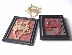 Dollar Store Framed Reindeer Quick Christmas Craft