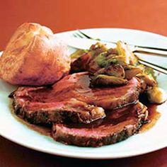 Holiday Classics - Roast beef and Yorkshire pudding are not only classical holiday dinner dishes—but surprisingly easy to cook. Add butternut squash soup, Brussels sprouts with chestnuts, and a sweet potato pie to make a menu with the best ingredients the season can offer.