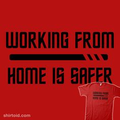 Red Shirt Quarantine | Shirtoid #krittikae #redshirt #startrek #typographic #workfromhome