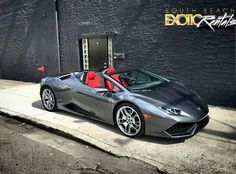2017 Lamborghini Huracan Spyder only available at South Beach Exotic Rentals #Florida #LuxuryCar #Cars #MiamiBeach #Lamborghini