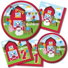 We sell Juvenile Birthday Party Supplies and Gifts Ideas at First & Second Time Around. You can purchase Juvenile Birthday Decorations, Supplies and Favors. Farm Party Favors, Farm Party Decorations, Farm Themed Party, Barnyard Party, Farm Animal Birthday, Farm Birthday, 3rd Birthday Parties, Birthday Ideas, Birthday Banners