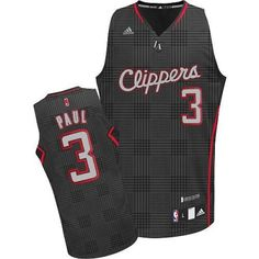 Chris Paul Swingman In Black Adidas NBA Los Angeles Clippers Rhythm Fashion   3 Men s Jersey 016592208