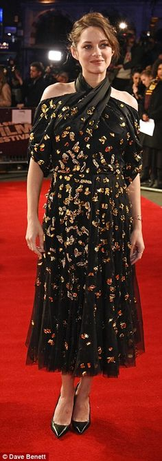 Bumping along nicely: Pregnant Marion Cotillard dazzled at the BFI Film Festival screening ofIt¿s Only the End of the World in London on Friday