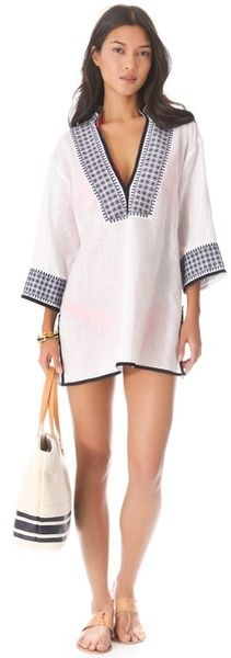 My favorite Tory Burch - Pearl Tunic Cover Up