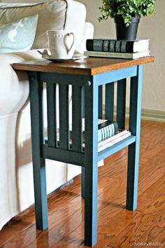Love this design & color ~~ Aubusson Blue End Table