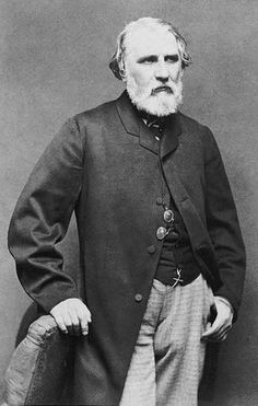 Ivan Sergeyevich Turgenev (Ива́н Серге́евич Турге́нев; 1818–1883), was a Russian novelist, short story writer, and playwright. His first major publication, a short story collection entitled A Sportsman's Sketches (1852), was a milestone of Russian Realism, and his novel Fathers and Sons (1862) is regarded as one of the major works of 19th-century fiction. ~Via Annouschka Przybylska