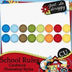 School Rules Cardstock Photoshop Styles