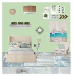 """beach house room"" by seattlegirl03 ❤ liked on Polyvore featuring interior, interiors, interior design, home, home decor, interior decorating, Wall Pops!, Maison La Bougie, Voluspa and SONOMA Goods for Life"