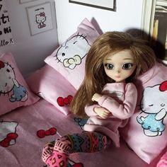 My little Kouki in her Hello kitty room...